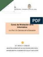Módulo Informatica 2016