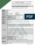 Infome Programa de Formación Titulada Tecnico HFC
