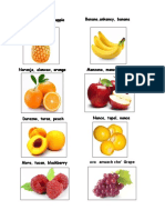 Frutas y Vegetales Kiche y Ingles Español