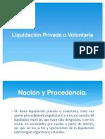 Liquidación Privada o Voluntaria
