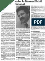 Edgard Romero Nava - La Inamovilidad Es Inconstitucional - El Nacional 08.06.1989