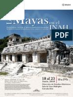 Cartel Mayas en el INAH