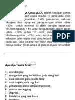 Obstructive Sleep Apnea Ppt