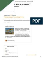 GRUA PORTICO PARTES _ Sobre Neumaticos - Puente Grua - Movil - Fija