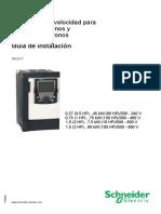 ATV71S Installation Manual ES 1755845 05