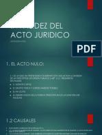 Nulidad, Anulabilidad y Confirmacion Del Acto Juridico
