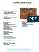 Programmes de Formation POLYETHYLENES
