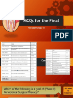 Periodontology III MCQ for the Final