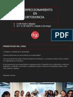 III Perfeccionamiento en Ortodoncia