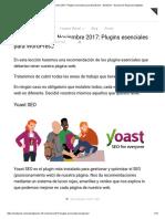 Actualización 18 Noviembre 2017_ Plugins Esenciales Para Wordpress