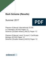June 2017 (R) QP - Paper 1C Edexcel Chemistry IGCSE