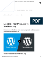 Lección 2 - Wordpress.com vs Wordpress