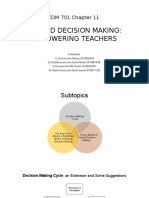 EDM 701 - Chapter 11 - Shared Decision Making