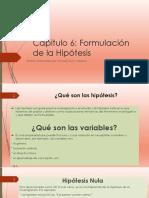 Cap 6 Hipòtesis