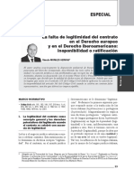 Transacción Inválida e Inutilidad de La Doctrina de Los Actos Propios-Rómulo Morales
