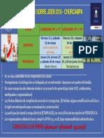 Cronograma Jden 2018 Presiciones