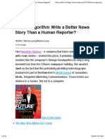WIRED - Can an Algorithm Write a Better News Story Than a Human Reporter?