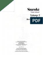 Suzuki Viola School - Volume 03
