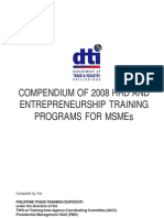 Dti-pttc 2008 Compendium of Hrd and Entrepreneurial Training Programs
