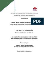 Tesis de la Creación de una empresa de transporte terrestre de carga pesada, ruta  Guayaquil,Lima.pdf