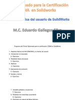 Programa Del Primer Diplomado Para La Certificación CSWA en SolidWorks