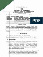 Fallo de Tutela confirma suspensión de Claudia Ortiz