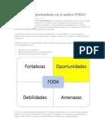 Que son las oportunidades en el análisis FODA.docx