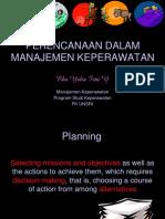 Perencanaan Dalam Manajemen Keperawatan