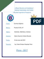 Informe N 06 y N 07 - Laboratorio (Quimica Organica) - Andres Alama..docx