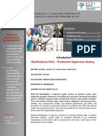 Qualifications Pack Production Supervisor