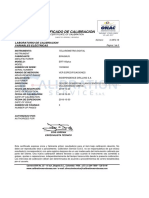 Certificado calibracion Telurometro