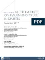 Review of the Evidence on Insulin and Its Use