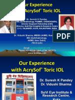 Dr Suresh K Pandey; Dr Vidushi Sharma, AcrySof Toric IOL, Suvi Eye Institute Kota India