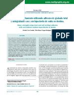 Resistencia al cizallamiento utilizando adhesivo de grabado total y autograbante con y sin hipoclorito de sodio en dentina.