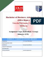 Target Economy Assaignment