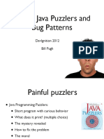 Java Puzzlers and Bug patterns