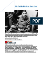 Fidel Castro  His Political Origin, Rule, And Legacy.docx
