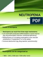 Neutropenia by Dr Gireesh Kumar K P, Department of Emergency Medicine, Amrita Institute of Medical Sciences, Kochi, Kerala