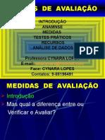 MEDIDAS DE Avaliação Fisica aula  slide