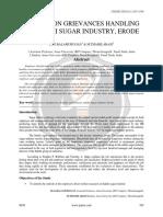 A Study on Grievances Handling at Sakthi Sugar Industry Erode Ijariie6938