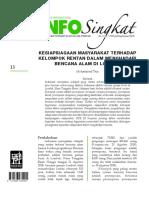 Info singkat kelompok rentan Lombok