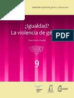 ¿Igualdad? La violencia de género (vol. 9)