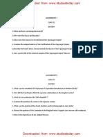 CBSE Class 12 History Worksheet - Revision Worksheet (8)