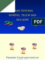 KISAH TENTANG Wortel, Telur&Kopi
