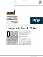 Un'opera da Premio Nobel - Il Corriere Adriatico del 20 maggio 2019