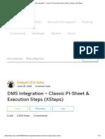 DMS Integration _ Classic PI-Sheet & Execution Steps (XSteps) _ SAP Blogs