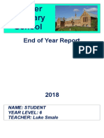 end year reports for portfolio