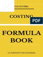 Costing Formula Book by CA