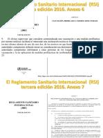 El Reglamento Sanitario Internacional (RSI) Fiebre Amarilla