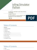 Dice Rolling Simulator Using Python PPT